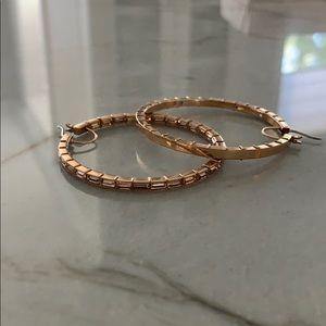 Henri Bendel rose gold hoop earrings